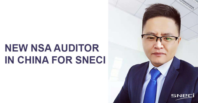 Qualification Of A New NSA Auditor In China For SNECI
