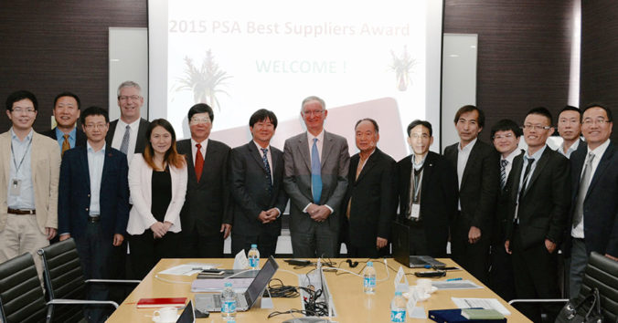 "GMB Receives ""Best Supplier Plant Asia"" Award From PSA Peugeot Citroën"