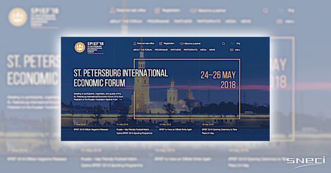 SNECI Invited To SPIEF'18, Russian Equivalent Of DAVOS
