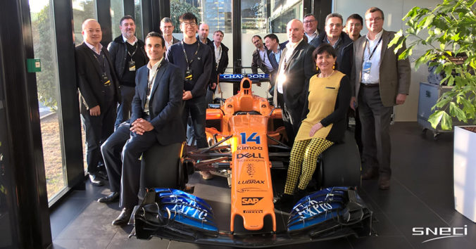 SNECI Visits Renault Sport Headquarters In Viry-Châtillon, France