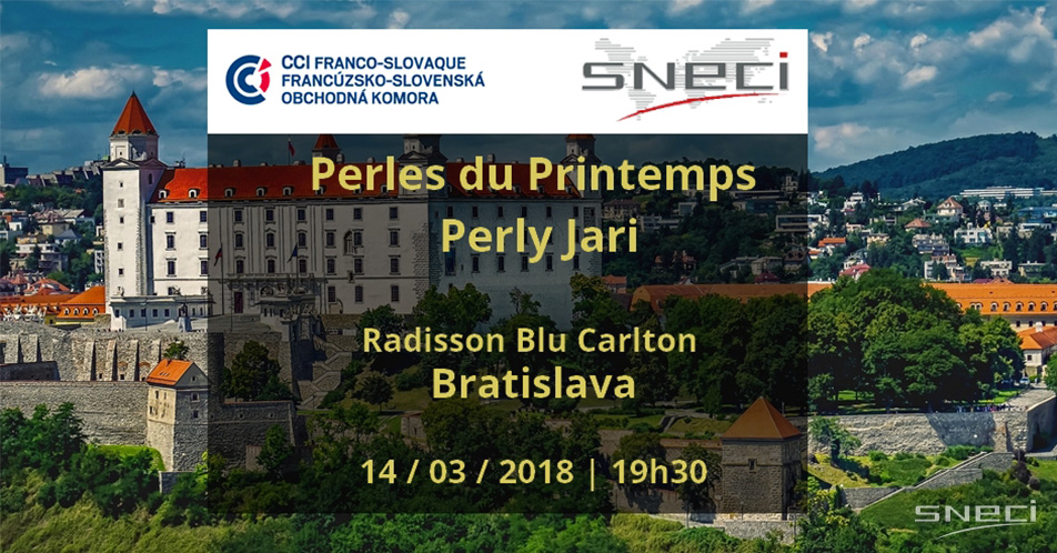 "SNECI Sponsors French-Slovak ""Spring Pearls"" Wine Tasting Event"