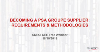 "Webinar Invitation ""Becoming A PSA Groupe Supplier Requirements & Methodologies""."